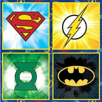 Justice League 2 Ply Beverage Napkins Pack of 16.jpg