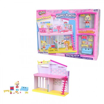 Shopkins Happy Places Happy Home Miniature Decor With Popette & Puppy Parlor Petkins Toys.jpg