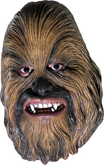Star Wars Chewbacca Adult 3 4 Costume Mask Buy Online Costumes