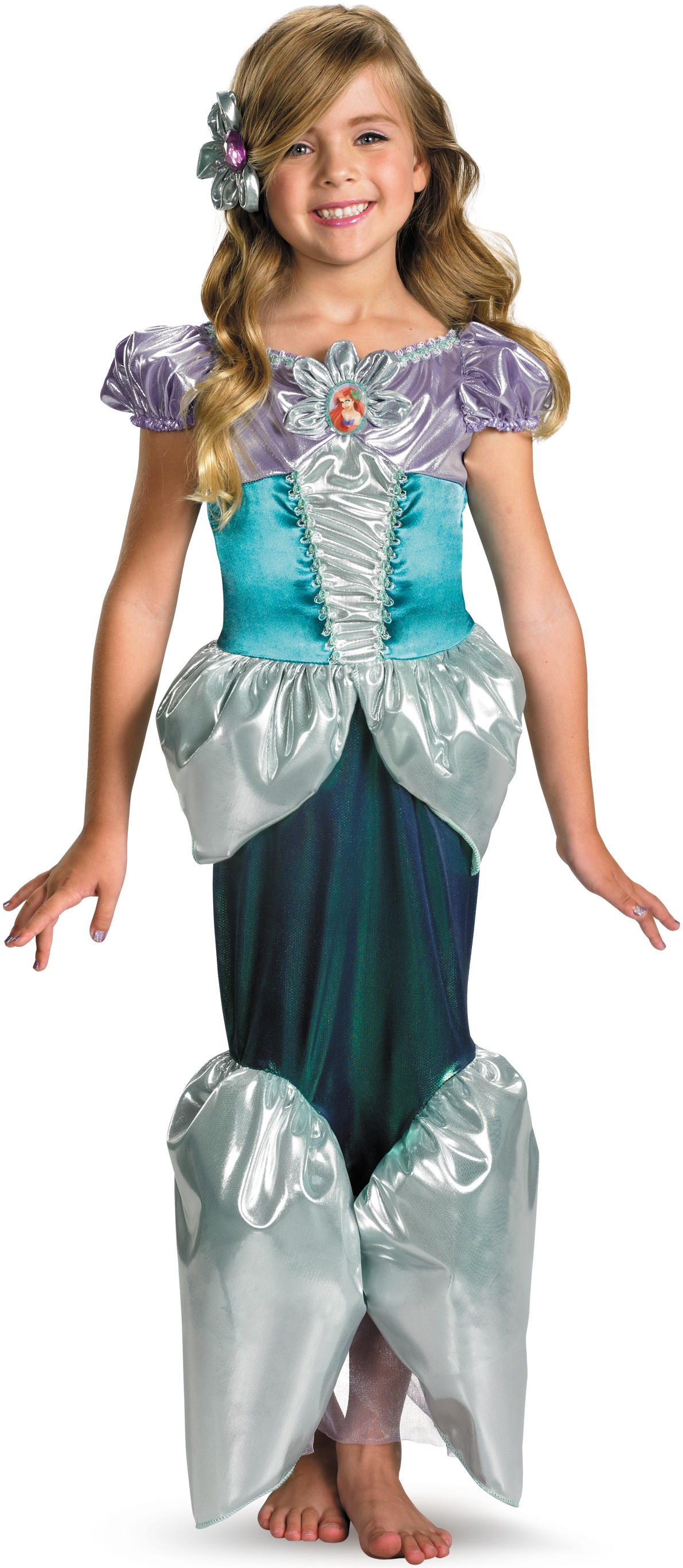 disney the little mermaid princess ariel lame deluxe toddler / child