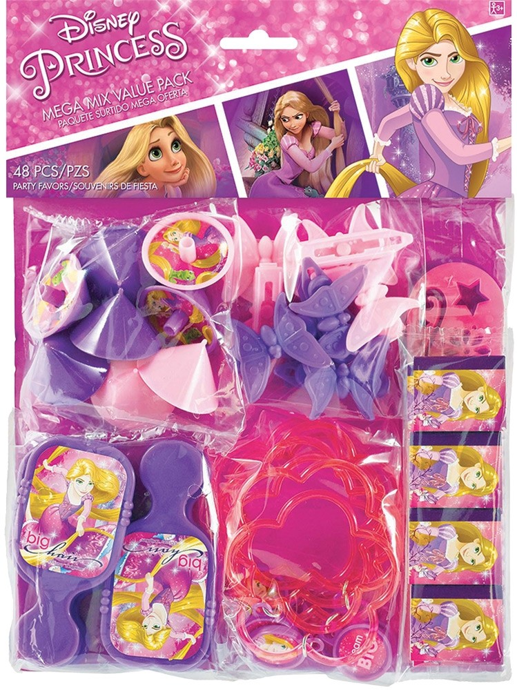 Disney Princess Fairy Tale Cartoon Kids Birthday Party 48 pc Favor Pack