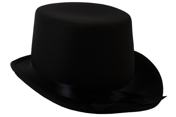 Adult Shiny Black Top Hat ~ FUN HALLOWEEN NEW YEAR/'S BIRTHDAY PARTY COSTUME