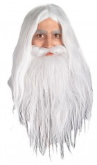 Lord of the Rings Gandalf Wig & Beard Men's Costume Accessory_thumb.jpg