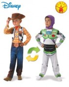 Toy Story Woody Buzz Lightyear Reversible Child Costume Size 3_thumb.jpg