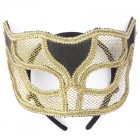 Masquerade Netted Mask Costume Accessory Adult Gold_thumb.jpg