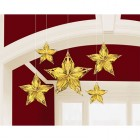 Glitz & Glam Gold Metallic Star Hanging Decorations Pack of 5_thumb.jpg