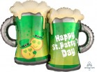 Happy St. Patrick's Day Emoticon Beer Mugs SuperShape Foil Balloon_thumb.jpg