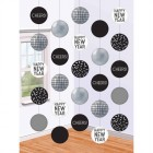 Disco Ball Drop Happy New Year Cheers Hanging String Decorations Pack of 5_thumb.jpg