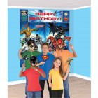 Justice League Happy Birthday Scene Setter & Photo Props Kit_thumb.jpg