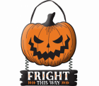 Pumpkin Fright This Way Hanging MDF Sign Halloween Prop_thumb.jpg