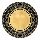 Glitz & Glam Black Gold Metallic Paper Lunch Plates Pack of 8_thumb.jpg