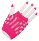 1980's Neon Pink Short Fishnet Women's Gloves Costume Accessory_thumb.jpg