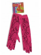 Neon Pink Lace Gloves Costume Accessory_thumb.jpg