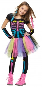 Funky Punk Skeleton Child Girl's Costume_thumb.jpg