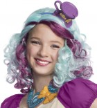 Ever After High - Madeline Hatter Girl's Costume Purple/Blue Wig with Hat Headpiece_thumb.jpg