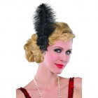 Roaring 20's Jazzy Black Feather Hairclip Adult Costume Accessory_thumb.jpg