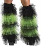 Boot Covers Tulle Ruffle Black Green_thumb.jpg