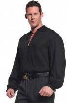 Black Pirate Shirt Adult Costume One Size_thumb.jpg