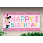 Minnie Mouse Fun to Be One Happy 1st Birthday Plastic Banner_thumb.jpg