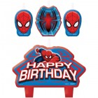 Spider-Man Happy Birthday Mini Moulded Candle Pack of 4_thumb.jpg