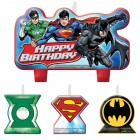 Justice League Happy Birthday Mini Moulded Candle Pack of 4_thumb.jpg