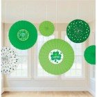 St. Patrick's Day Paper Fan Decorations Pack of 6_thumb.jpg