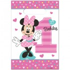 Minnie Mouse Fun to Be One 1st Birthday Plastic Loot Bags Pack of 8_thumb.jpg