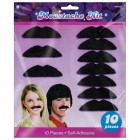 Disco Fever Black Felt Moustaches Pack of 10_thumb.jpg