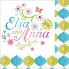 Frozen Fever Elsa & Anna 2 Ply Beverage Napkins Pack of 16_thumb.jpg