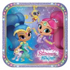Shimmer & Shine Square Paper Luncheon Plates 18cm Pack of 8_thumb.jpg