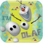 Frozen Olaf Square Paper Dinner Plates 23cm Pack of 8_thumb.jpg