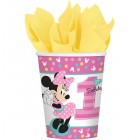 Minnie Mouse Fun to Be One 1st Birthday Paper Cups 266ml Pack of 8_thumb.jpg