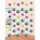 Disco Fever Cardboard Hanging String Decorations Pack of 6_thumb.jpg