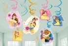 Beauty and the Beast Hanging Swirl Cardboard Decorations Pack of 12_thumb.jpg