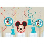 Mickey Mouse Fun to Be One 1st Birthday Cardboard Hanging Swirls Pack of 12_thumb.jpg