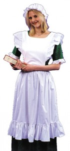 Olden Day Pinafore Mob Cap Apron & Bib Adult Costume Kit_thumb.jpg