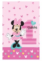 Minnie Mouse 1st Birthday Plastic Tablecover_thumb.jpg