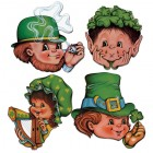 St. Patrick's Day Faces Cardboard Cutouts Pack of 4_thumb.jpg