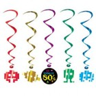 Totally 80's Hanging Whirl Decorations Pack of 5_thumb.jpg