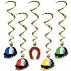 Derby Day Melbourne Cup Hanging Whirl Decorations Pack of 5_thumb.jpg