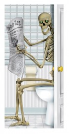 Halloween Skeleton Restroom Bathroom Toilet Door Cover_thumb.jpg