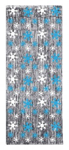 Snowflake Winter Theme Gleam N Curtain, 240cm Tall x 90cm wide _thumb.jpg