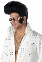 Rock N Roll Elvis Presley Wig 50's Men's Costume Accessory_thumb.jpg