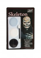 Mehron Tri Color Palette Skeleton Kit Face Paint Makeup Costume Accessory_thumb.jpg