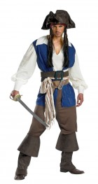 Pirates of the Carribbean Deluxe Captain Jack Sparrow Adult Plus Costume 50-52_thumb.jpg