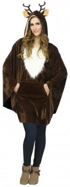 Reindeer Poncho and Antlers Adult Costume Accessory Kit_thumb.jpg