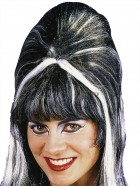 Women's High Vampiress Costume Black Wig with Silver Streaks_thumb.jpg
