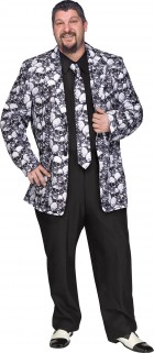 Skull Jacket and Tie Adult Plus Costume_thumb.jpg