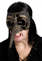 Adult Venetian Carnival Raven Bird Creeper Mask Black_thumb.jpg