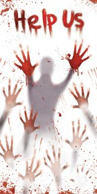 "Zombie Apocalypse Bloody ""Help Us"" Halloween Door Cover Decoration _thumb.jpg"